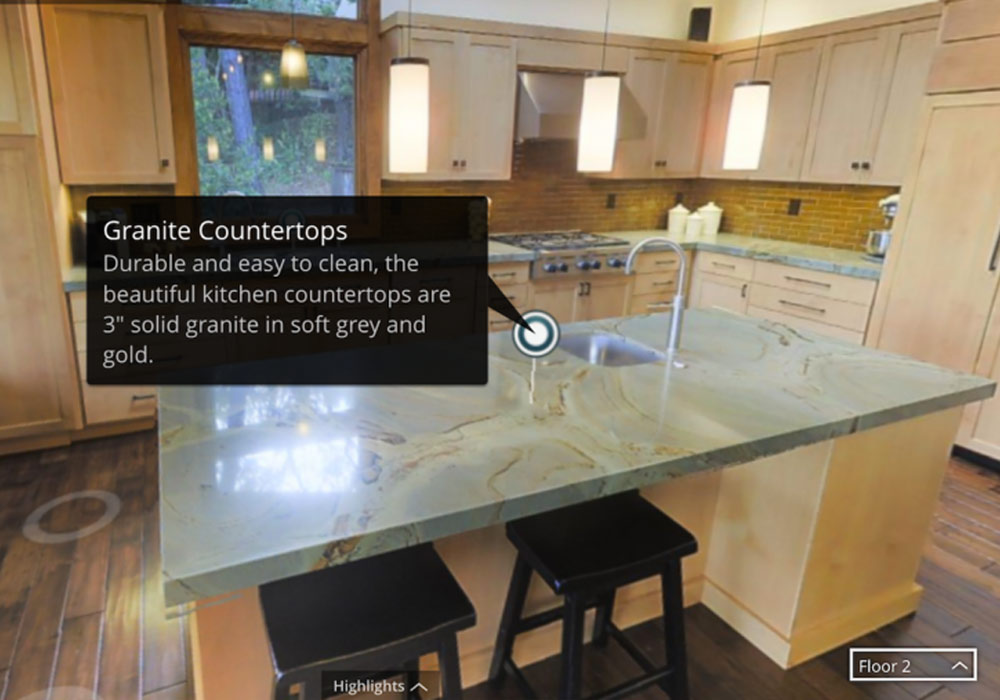 annotations on virtual tour