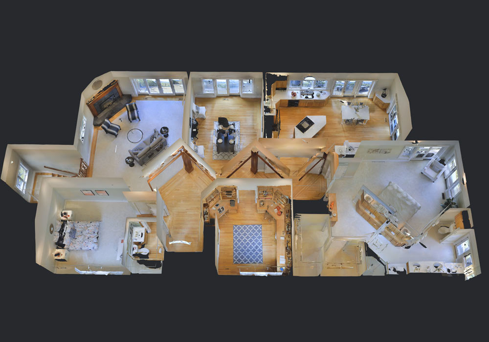 3D view of room